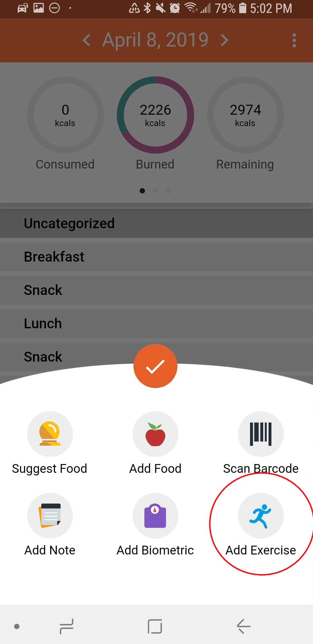 Mobile - Add an Activity – Cronometer